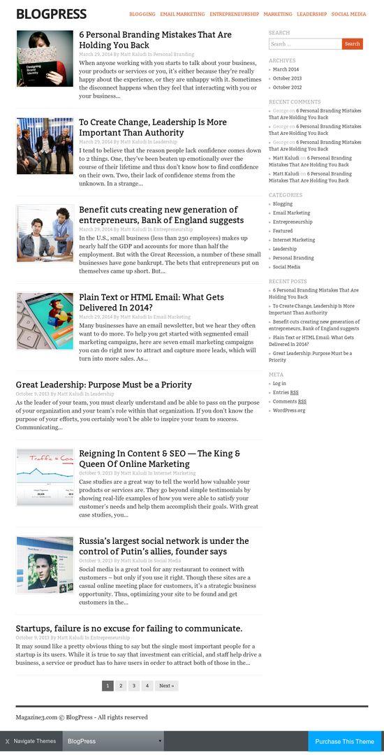 Magazine3 - BlogPress Theme Review   REALITY