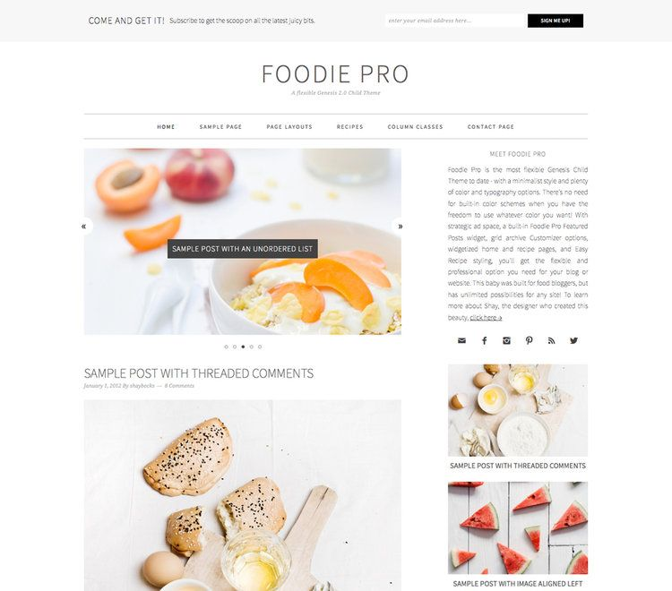 Foodie pro review studiopress real review foodie pro review studiopress genesis wordpress child theme forumfinder Image collections