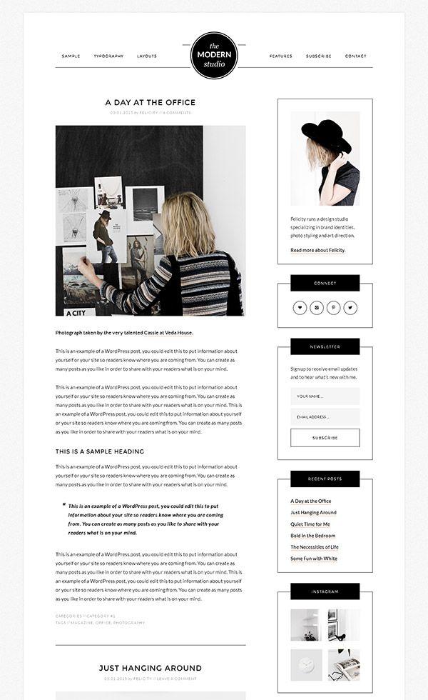 Studiopress modern studio pro review legit for Modern image studios reviews