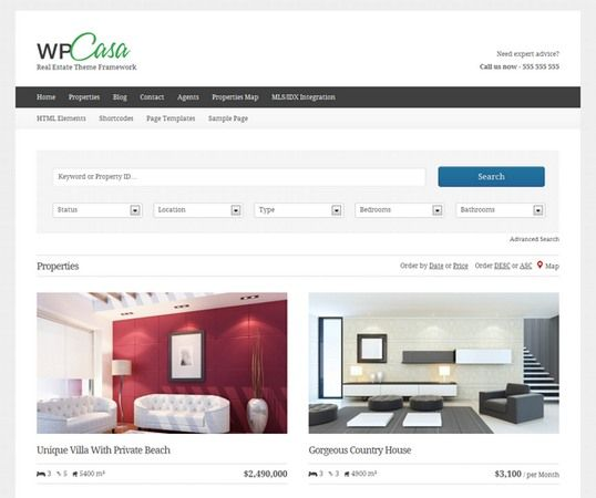 wpCasa Review Real Estate Theme Framework Demo