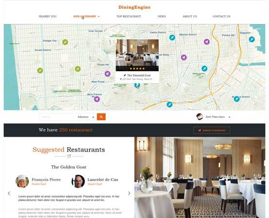b32fbdb259e DiningEngine Review Demo EngineThemes WordPress Restaurant Directory Theme