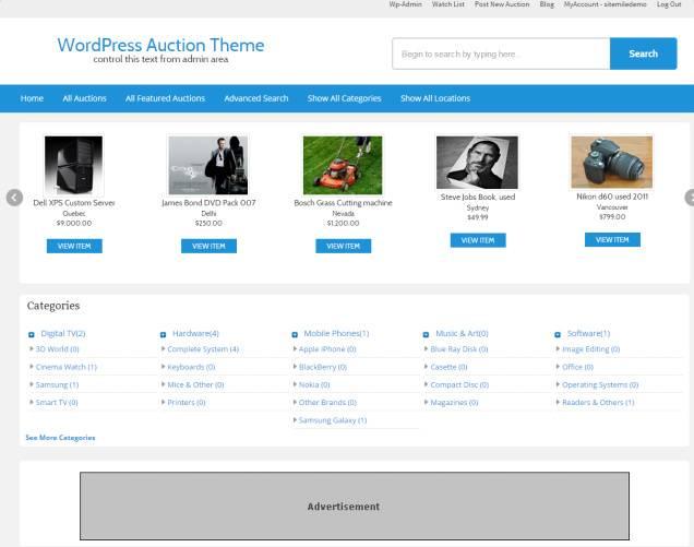 Auction Theme Review Sitemile Read Review