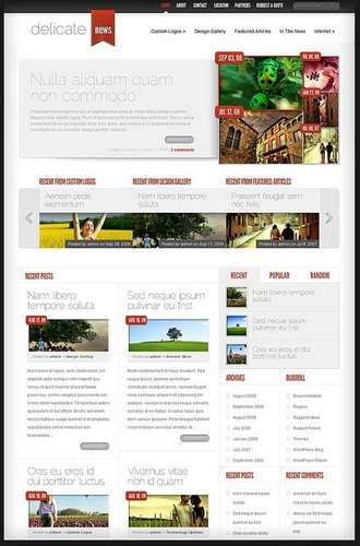 Specifications For  WordPress Themes
