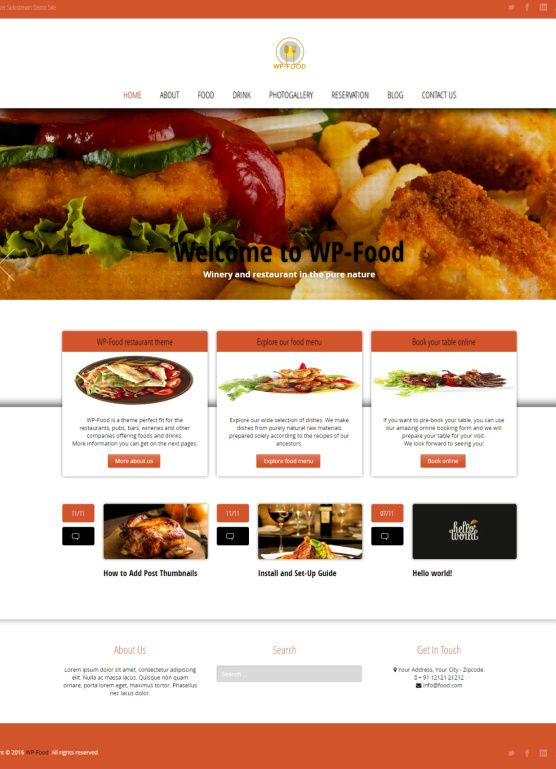 general content start your food blog