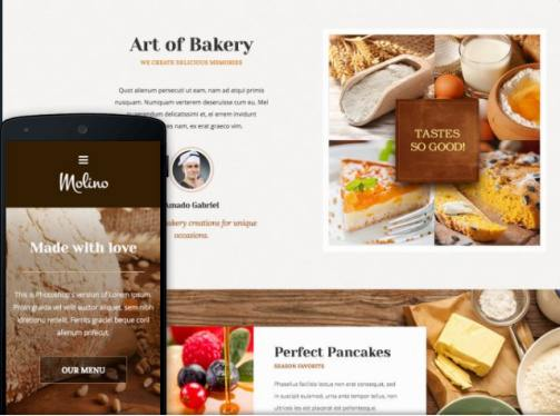 Molino Review - ThemeFuse Bakery Food Theme | GOOD ?