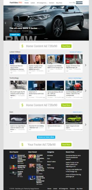 FastVideo Review : Video Theme by HappyThemes | REALITY